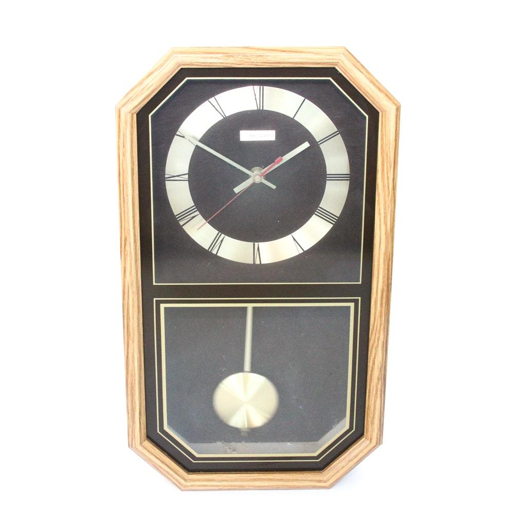 vintage 1980s linden quartz pendulum wall clock - Pendulum Wall Clock