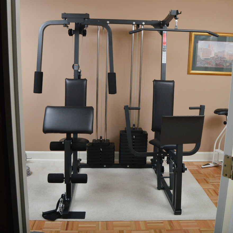 Weider Home Gym Instructions: Weider Pro 9940 Dual Station Workout System : EBTH