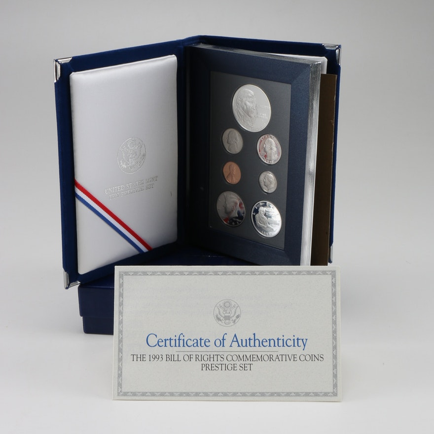 1993 Bill of Rights Commemorative Coins Prestige Set