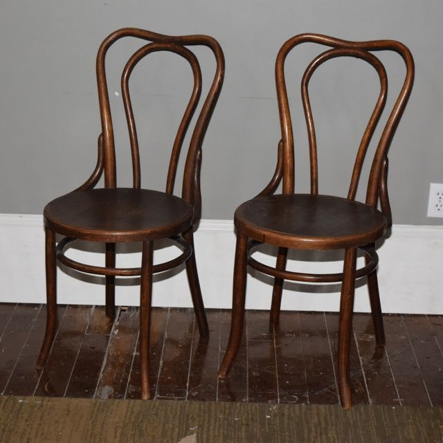 antique bentwood chairs with tiger oak seats