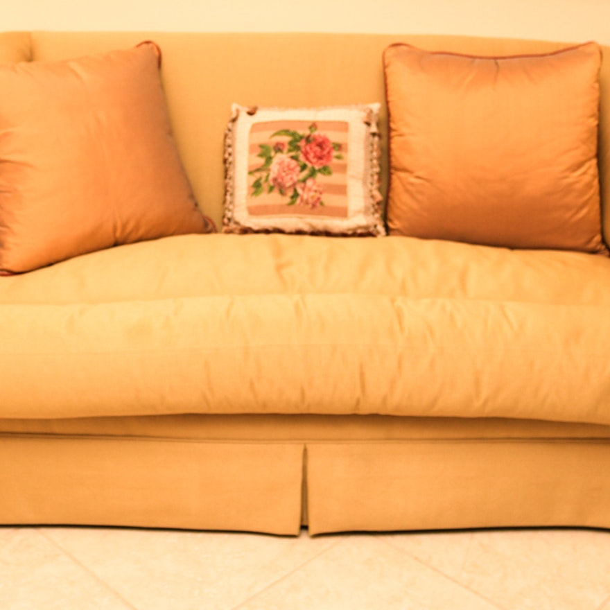 Gold Tone Loveseat From Ferguson Copeland Ltd