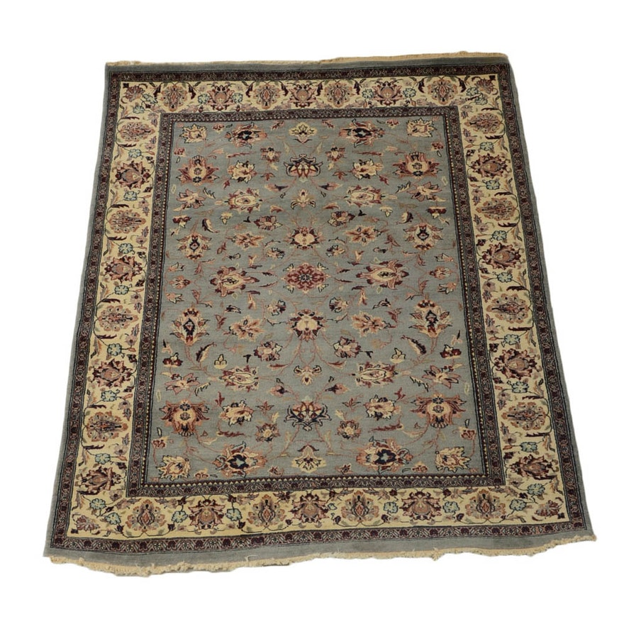 Hand Knotted Indo Persian Obeetee Wool Area Rug Ebth: Handwoven Persian Wool Area Rug