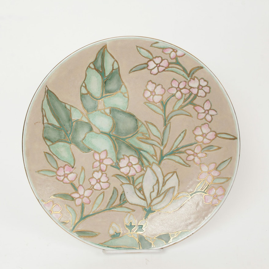 Hand Painted Chinese Plate Made In Macau Ebth