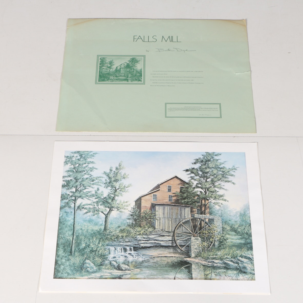 Johnny Jett Print Titled Quot Muse S Mill 1870 Muse S Mill