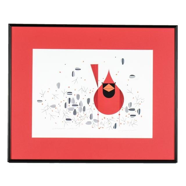 Charley Harper Signed Cardinal Offset Lithograph Ebth