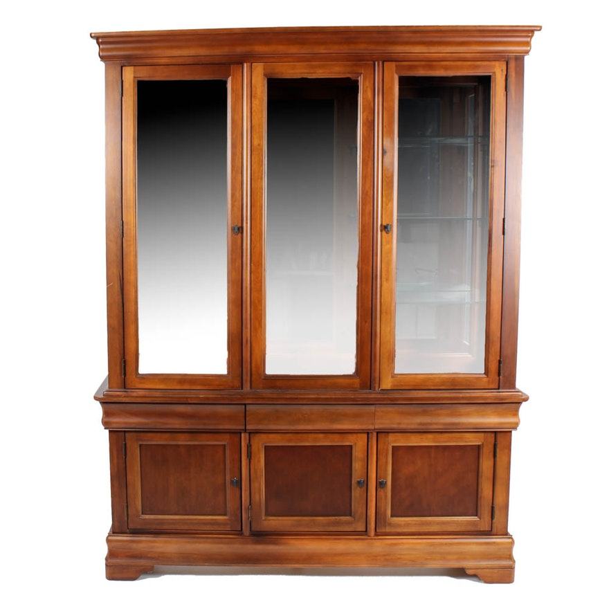 Bett Furniture Solid Cherry Wood China Cabinet