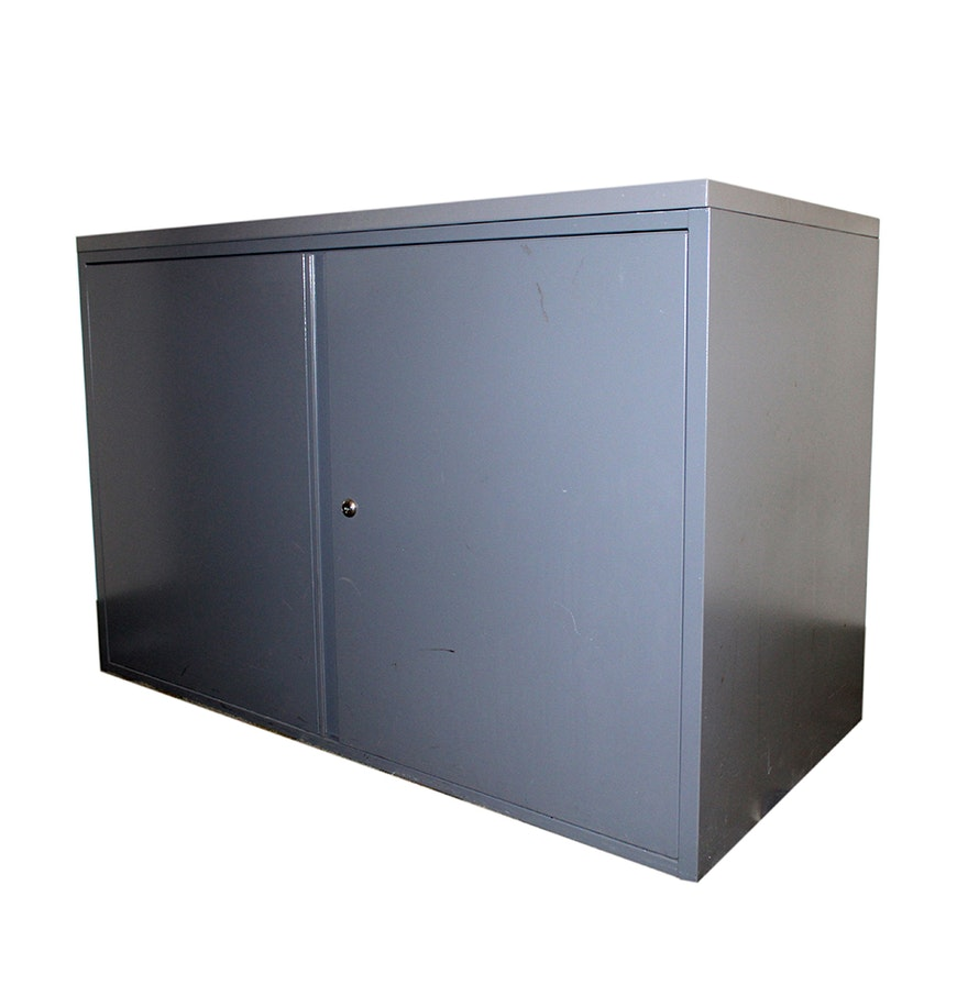 Low Storage Cabinet Metal Office Low Storage Cabinet Ebth