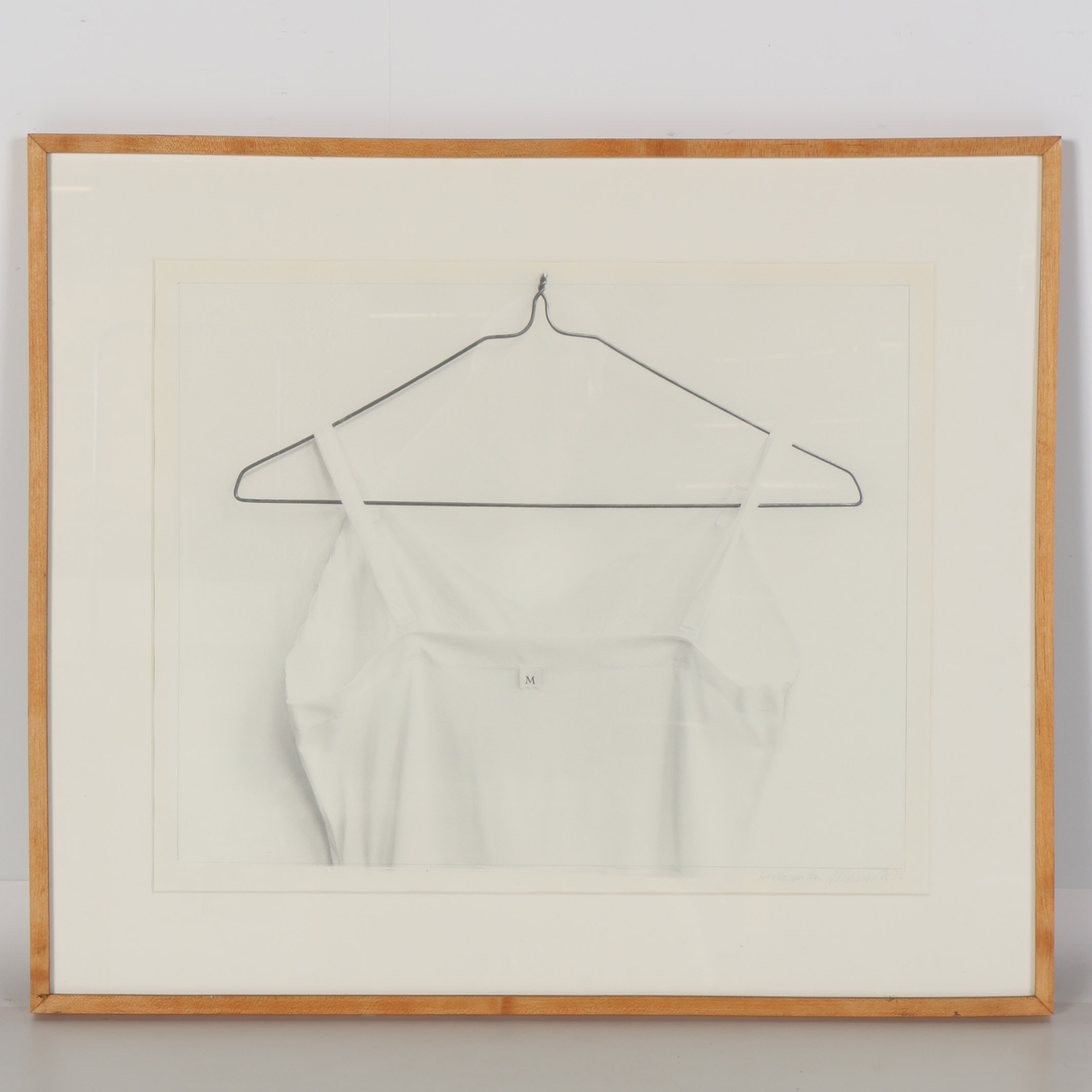1976 Signed Original Drawing of a White Shirt