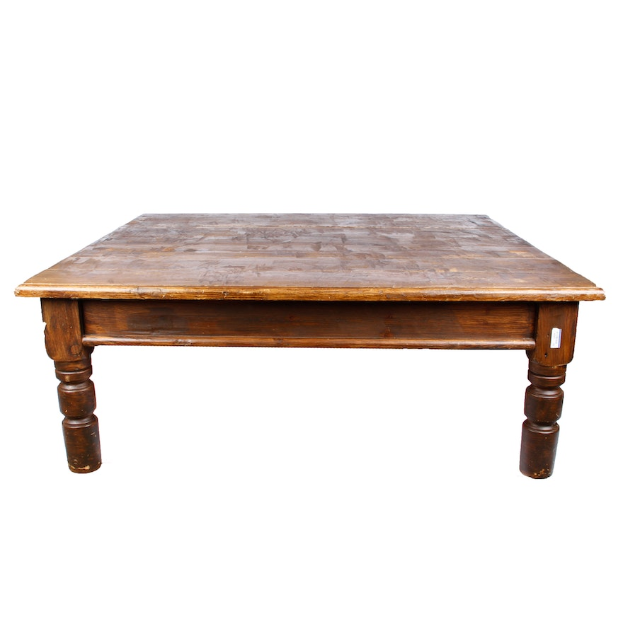 Distressed Wood Coffee Table : EBTH