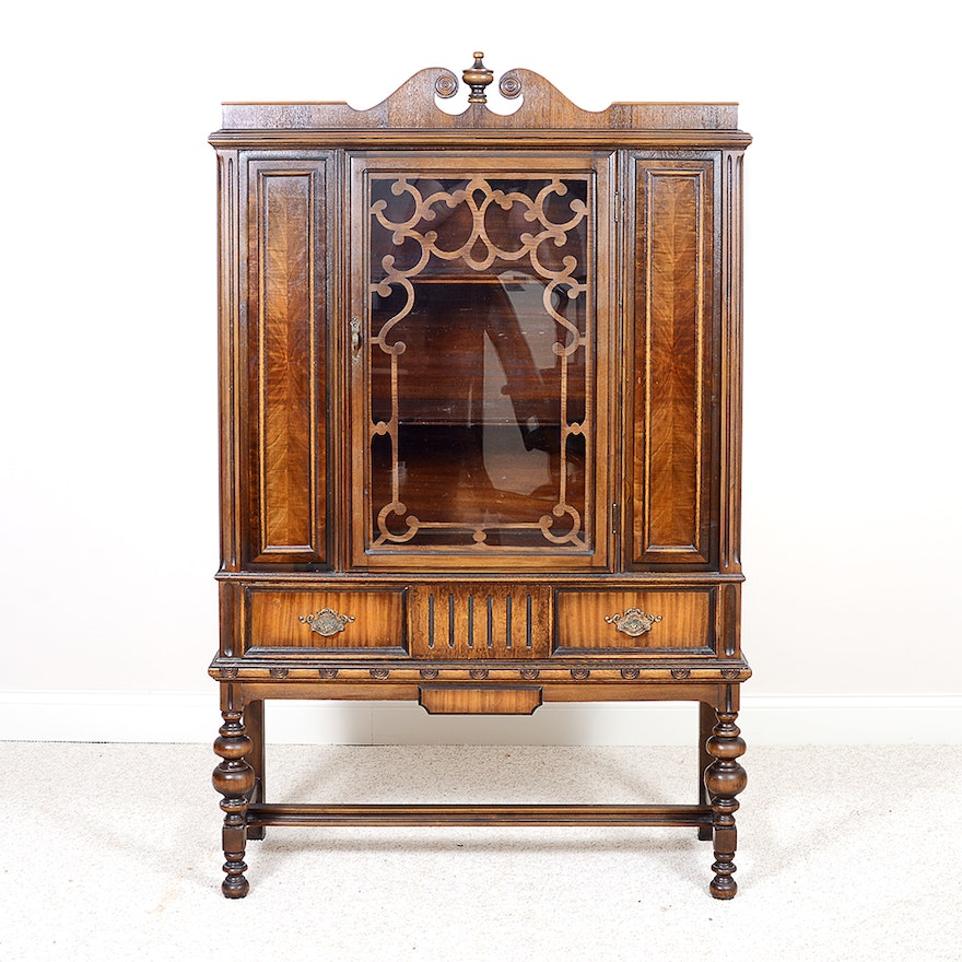 Early 20th Century Rome Furniture Company China Cabinet - Online Furniture Auctions Vintage Furniture Auction Antique