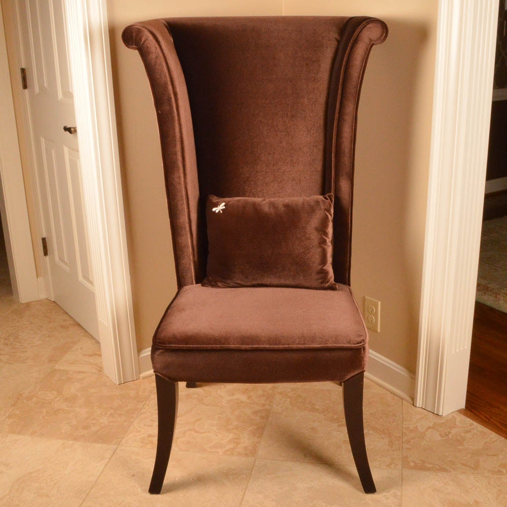 Mad Hatter Brown Velvet Side Chair by Armen Art Furniture ... & Mad Hatter Brown Velvet Side Chair by Armen Art Furniture : EBTH