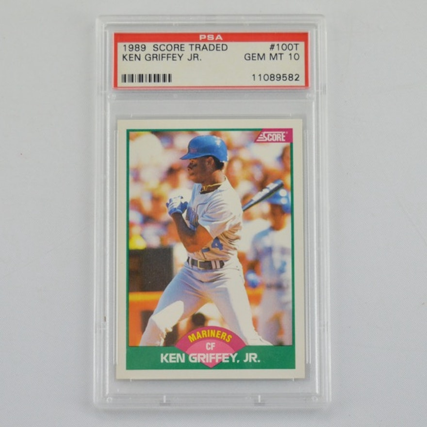 6627557e04 PSA Graded 1989 Score Ken Griffey Jr. Rookie Baseball Card #100T : EBTH