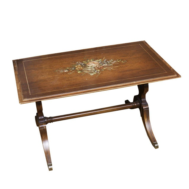 Imperial Grand Rapids Solid Mahogany Hand Painted Coffee Table ...
