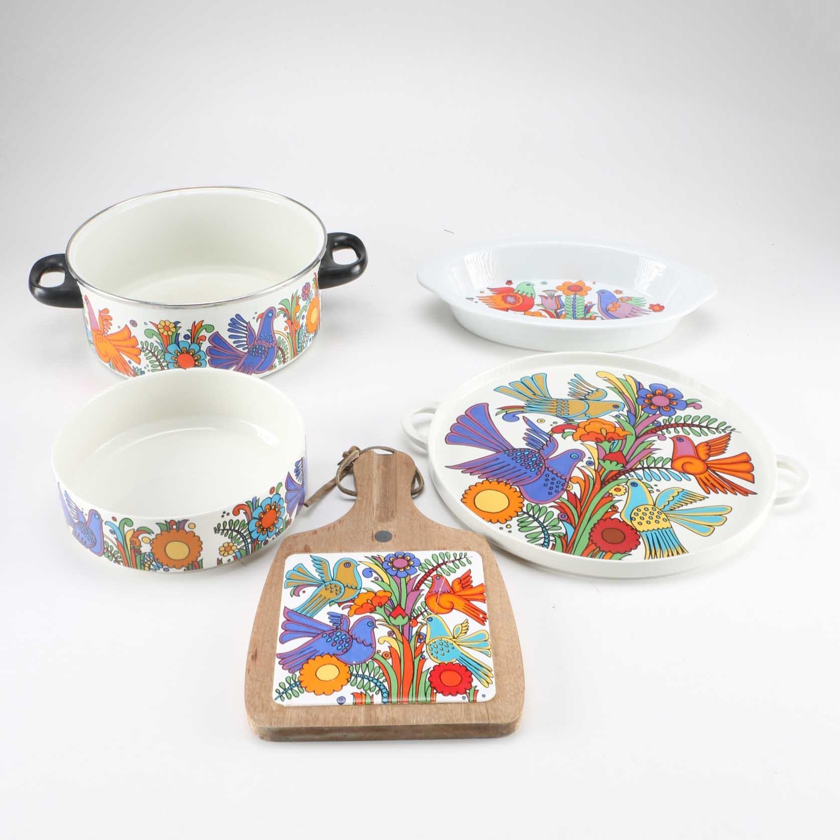 Villeroy u0026 Boch  Acapulco  Porcelain Dishes with ... & Villeroy u0026 Boch