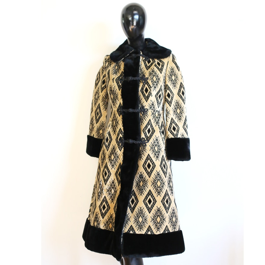 Vintage 1970 s Tapestry and Faux Fur Coat   EBTH 2f580c6eee2d6