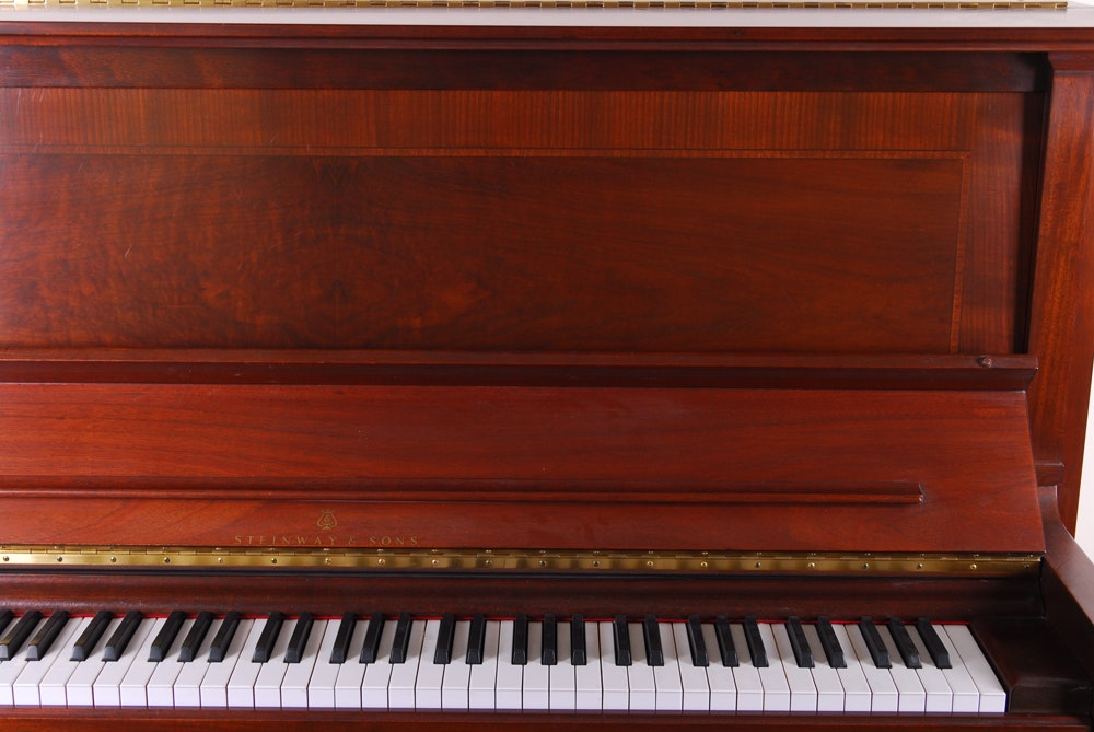 Steinway And Sons Upright Piano With Bench Ebth