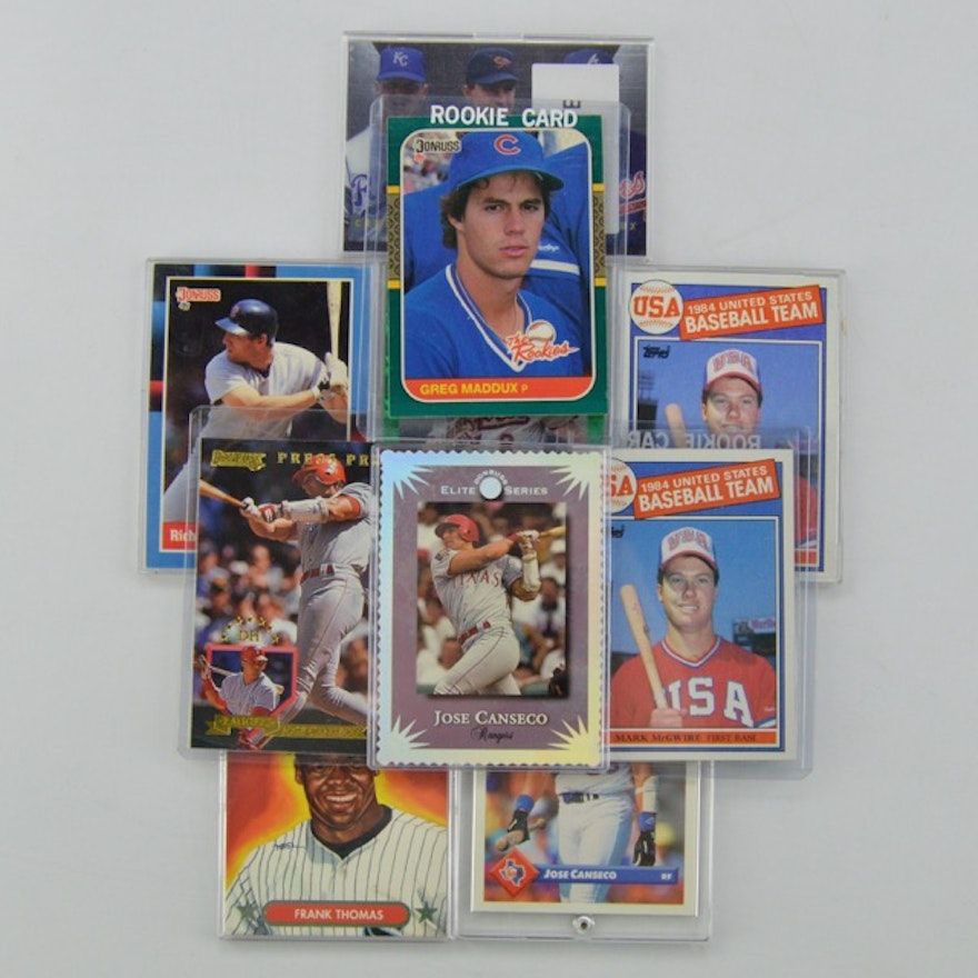 Vintage Baseball Cards From The 1980s And 1990s