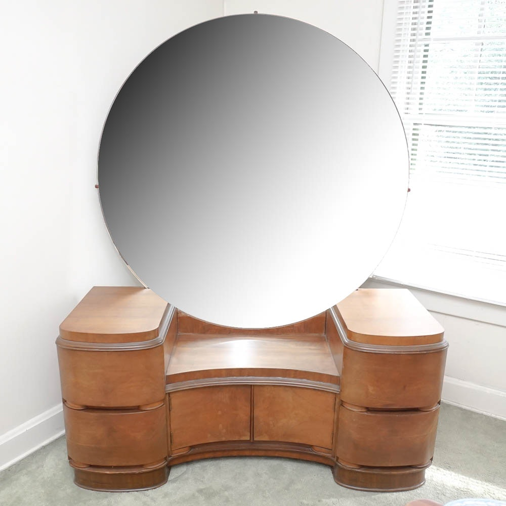 Exceptional Mid Century Art Deco Vanity By Tri Bond Furniture ...
