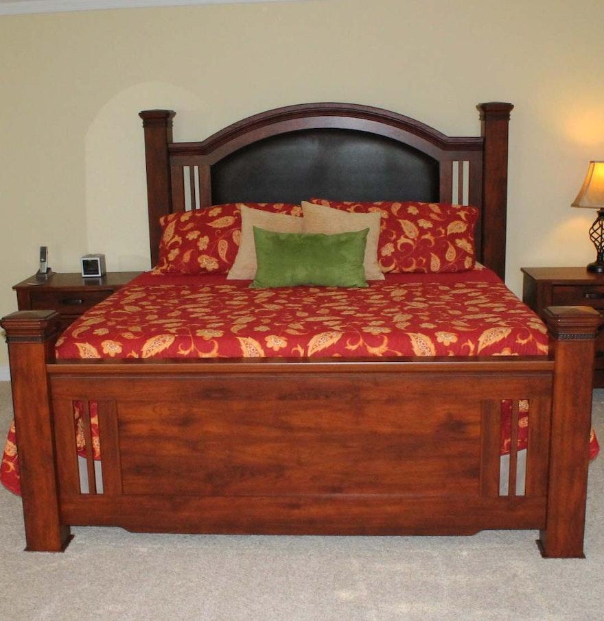 king size arched panel bed ebth. Black Bedroom Furniture Sets. Home Design Ideas