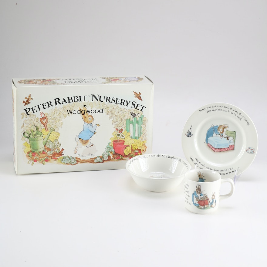 Wedgwood Peter Rabbit Nursery Set