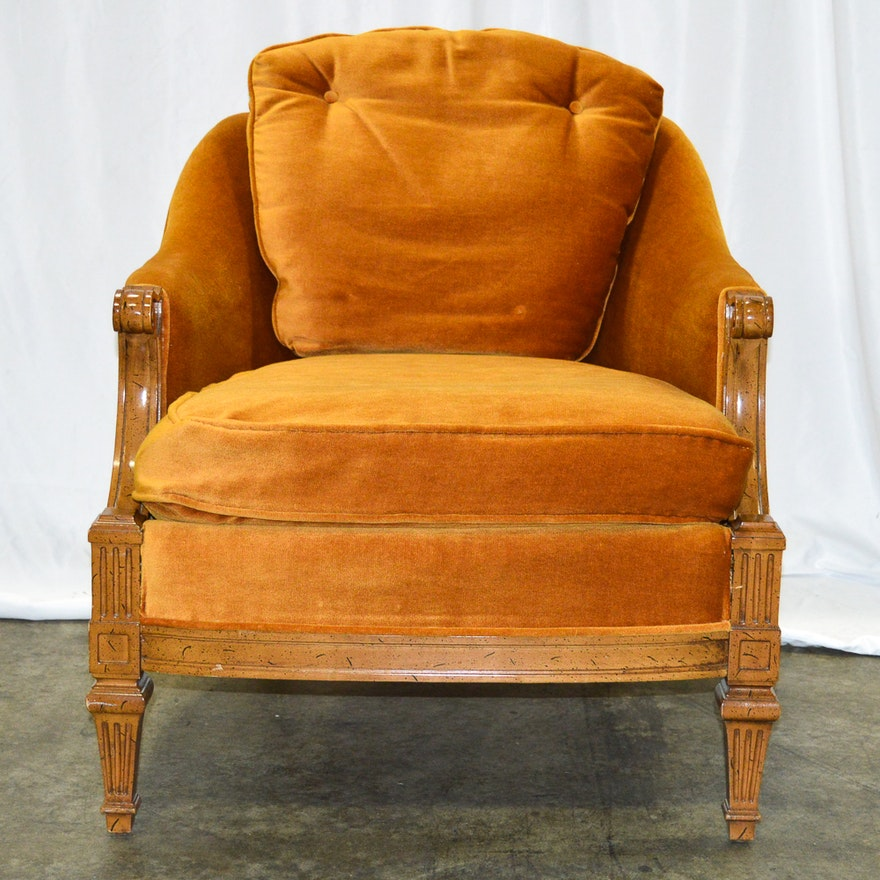 Vintage Burnt Orange Armchair By Furniture City Of Grand Rapids Inc Ebth