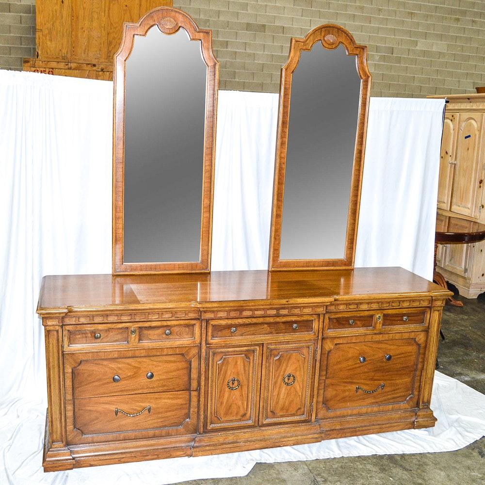 Thomasville Bedroom Furniture 1970 S circa 1970s double dresser with mirrorsthomasville : ebth