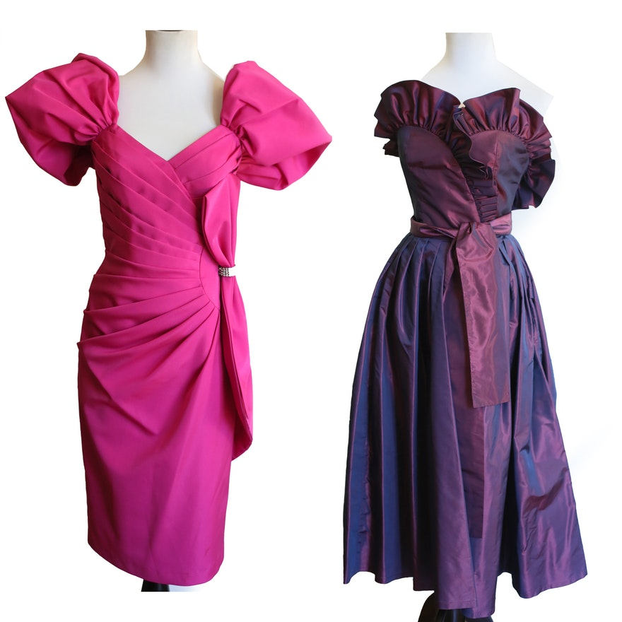 2ad06b4e48f43 Two Vintage 1980 s Prom Dresses   EBTH
