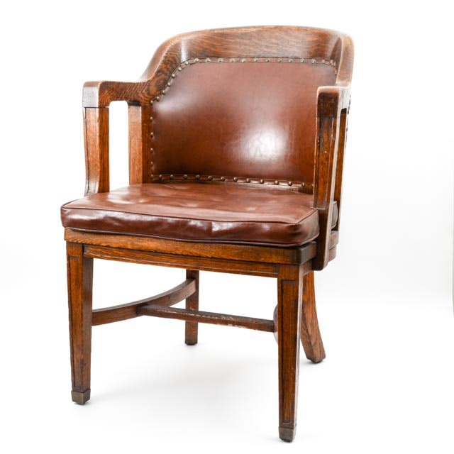 Art deco office chair Industrial Ebthcom Classic Vintage 1930s Art Deco Office Chair Ebth