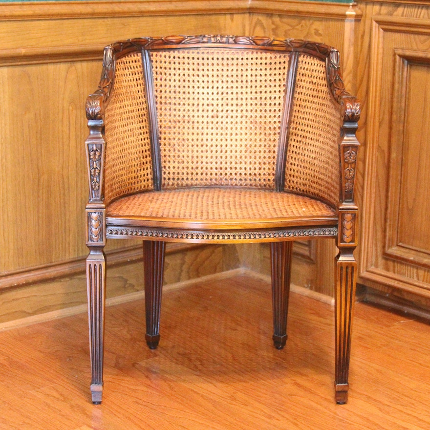 Excellent Theodore Alexander Carved Wood And Rattan Chair Short Links Chair Design For Home Short Linksinfo