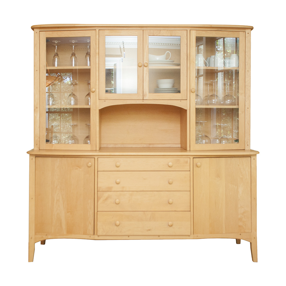 Hand-crafted Shaker Style Maple China Cabinet : EBTH