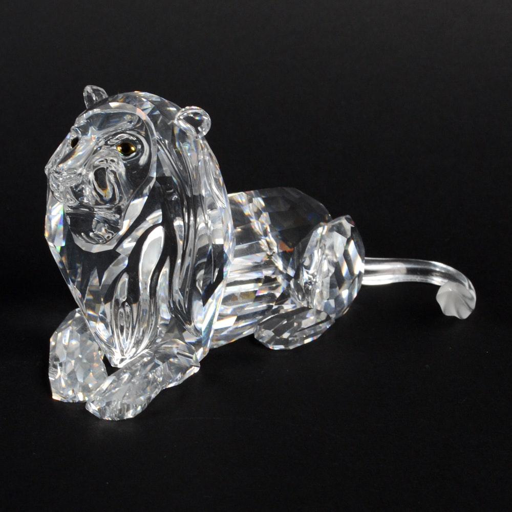 Swarovski Crystal Lion
