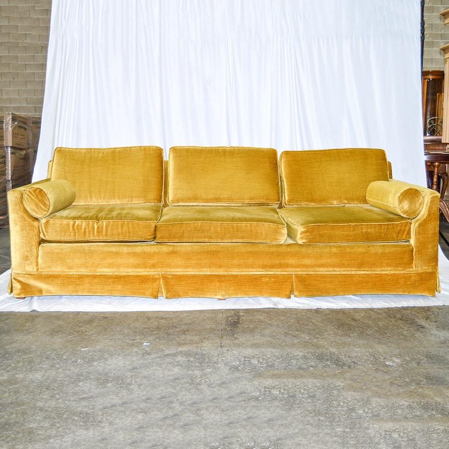 Vintage Mustard Yellow Broyhill Sofa : EBTH