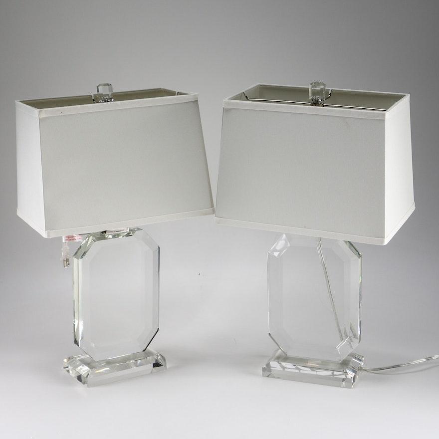 7c980158994f Set of Ralph Lauren Crystal Table Lamps | EBTH