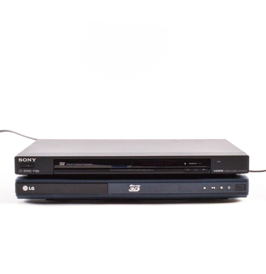 sony hdmi cd dvd player and lg 3d blu ray player ebth. Black Bedroom Furniture Sets. Home Design Ideas