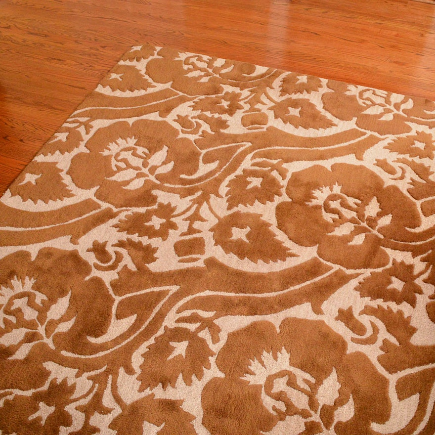 Hand Tufted Indian Wool Sculpted Area Rug