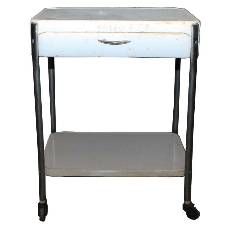 Vintage Rolling Metal Kitchen Cart : EBTH