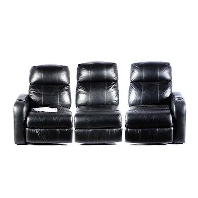 Burgundy leather sectional sofa ebth for Burgundy leather chaise