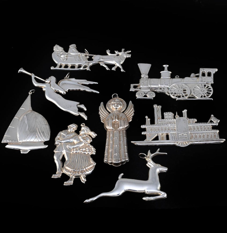 Gorham American Heritage Sterling Silver Christmas Ornaments
