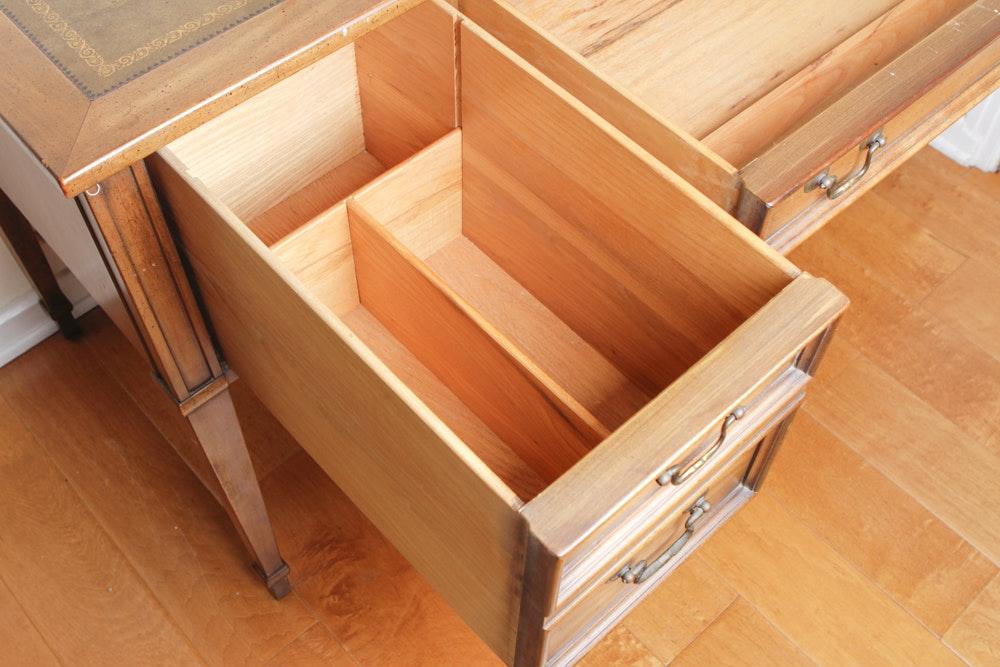 Sligh Lowry Leather Top Desk Ebth