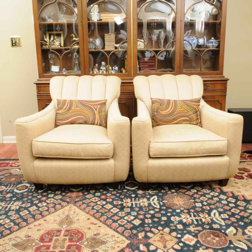 Pair Of Taylor King Upholstered Chairs ...