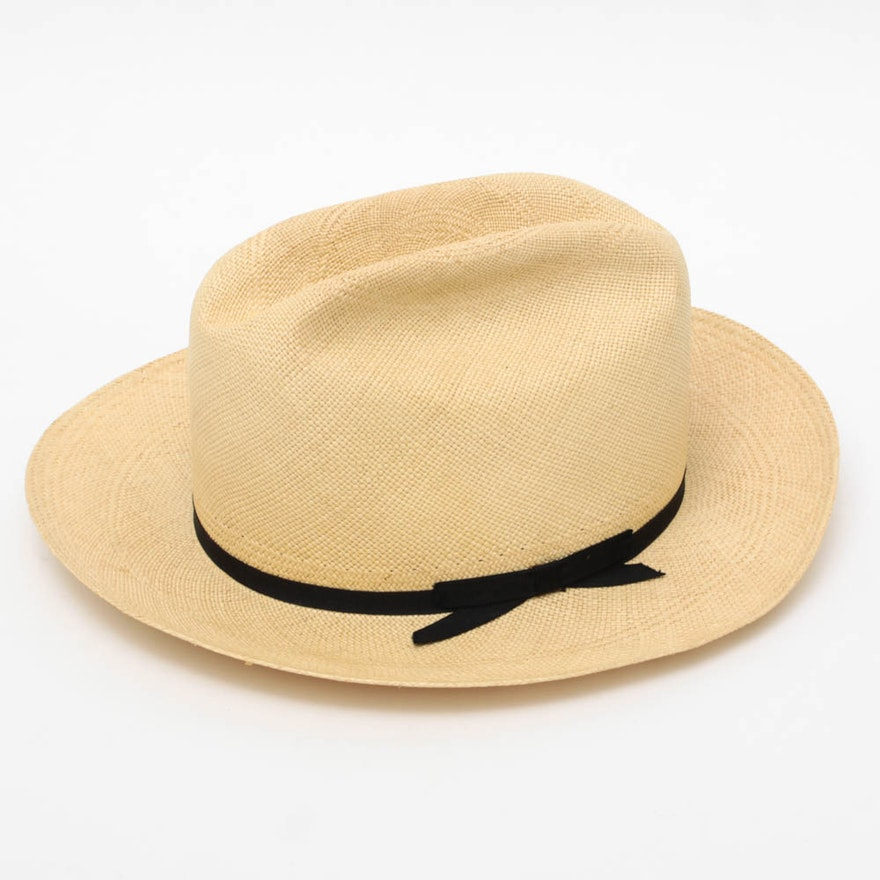 Vintage Stetson Open Road Panama Straw Hat in Box   EBTH 8149416cc96
