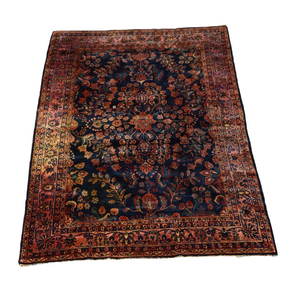 Persian Hand Woven Bakhtiari Style Wool Area Rug Ebth: Semi Antique Handwoven Persian Sarouk Area Rug