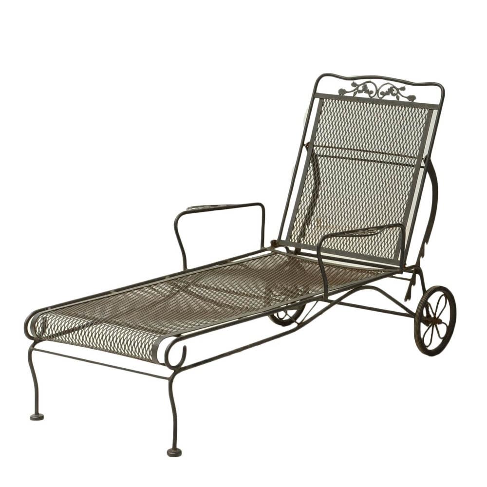 Iron Patio Pool Lounge Chair EBTH