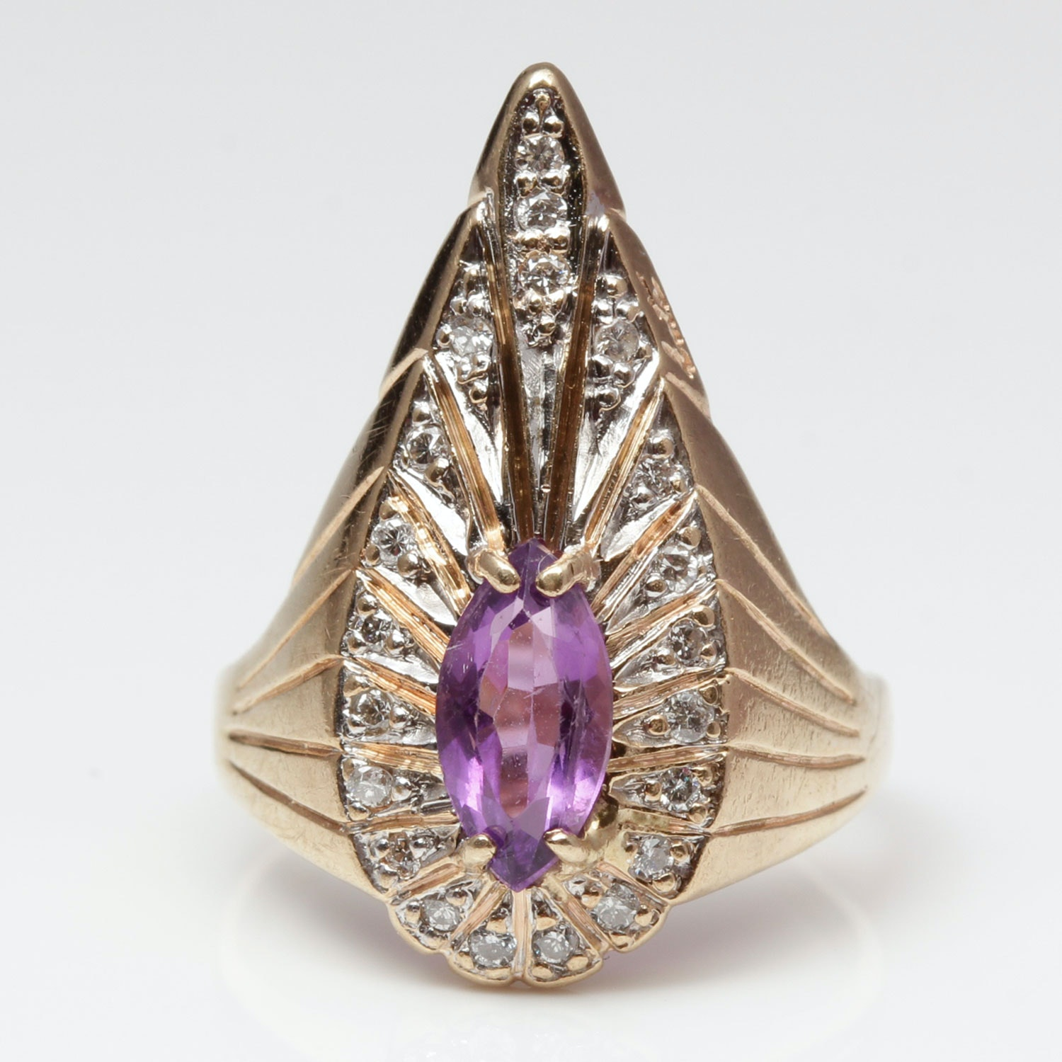 erte 14k yellow gold quot peacock quot limited edition amethyst