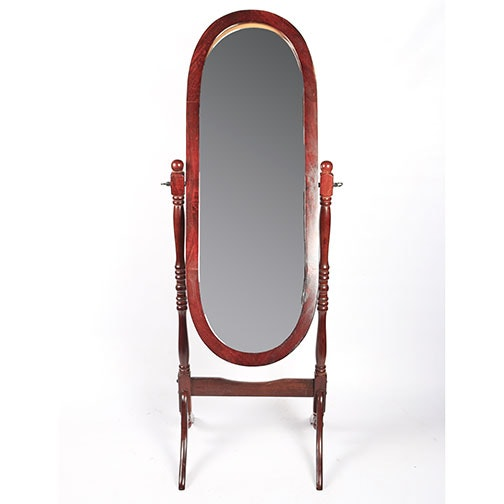 oval free standing swivel mirror ebth