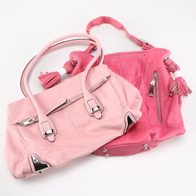 B. Makowsky Pink Leather Bag Collection d335d832a861b