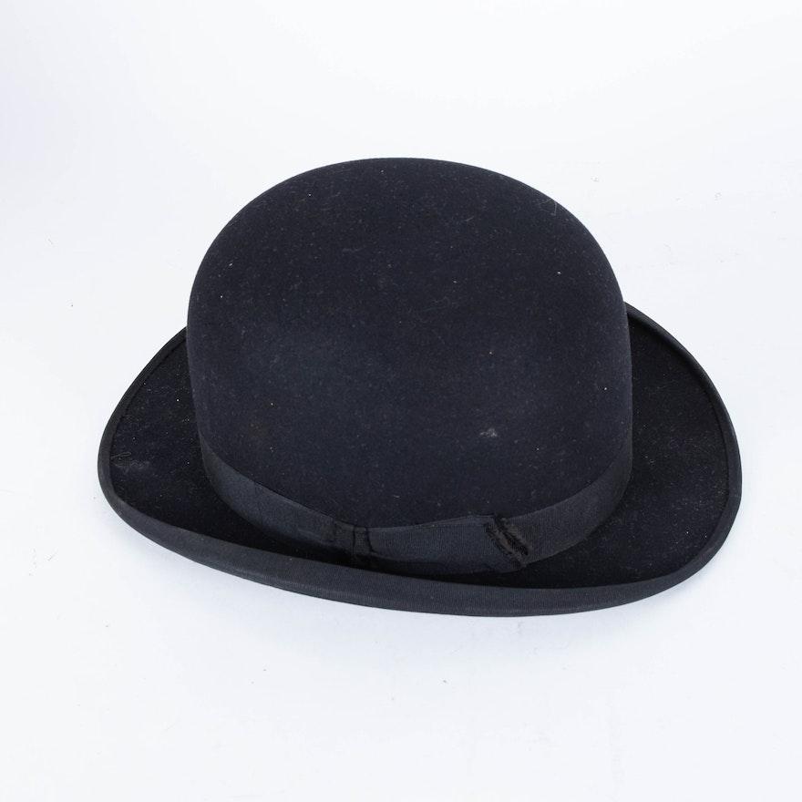 Vintage Stetson Bowler Hat 063b570303f