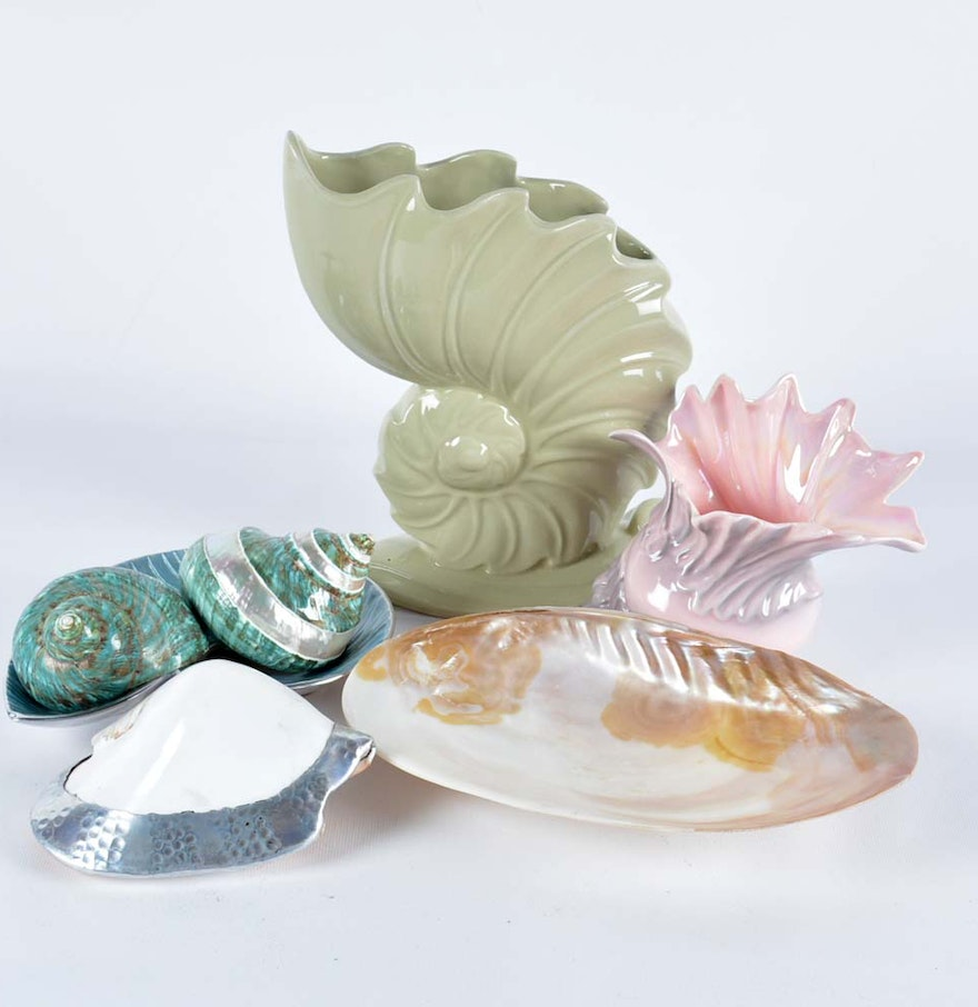 Shell Pottery Vases And Decorations Ebth