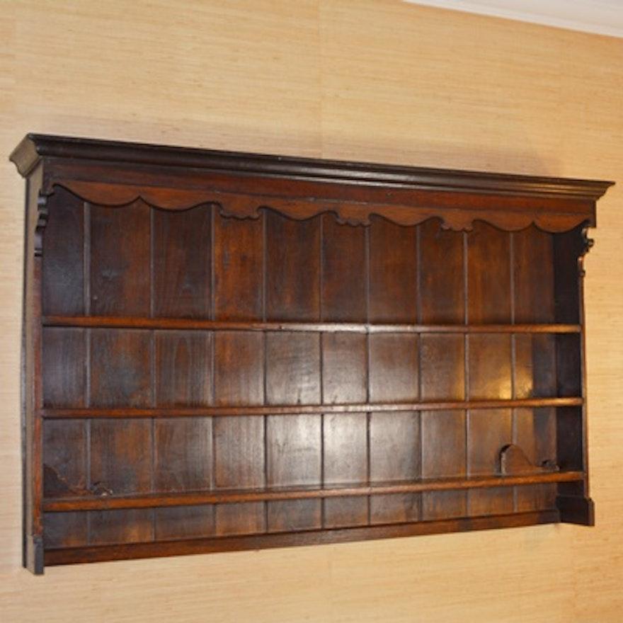 Antique Hanging Welsh Oak Cupboard ... - Antique Hanging Welsh Oak Cupboard : EBTH