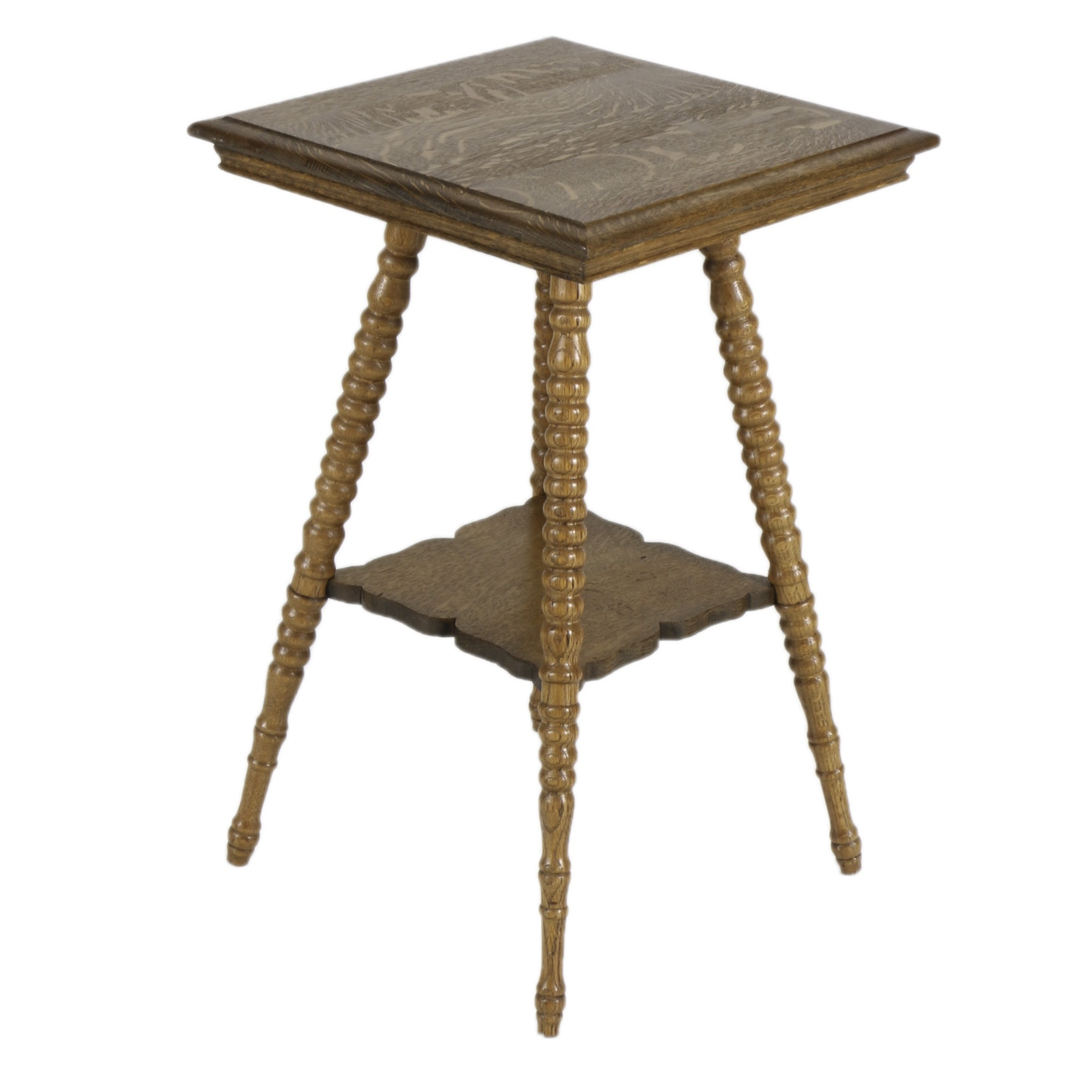 Spindle Leg Table #30 - Spindle Leg Oak Accent Table ...